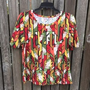 Lularoe 3XL Gigi Snowman Shirt Top Tee Soft